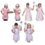 Melissa And Doug Princess Fairy and Waitress Role Play Costume Set of 3 - click to enlarge