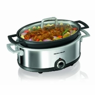 Hamilton Beach 33351 5.5 Quart Premiere Oval Slow Cooker Cast Aluminum Cooking Vessel - click to enlarge