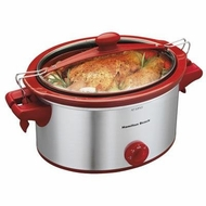 Hamilton Beach 33354 5 Quart Slow Cooker, Red - click to enlarge