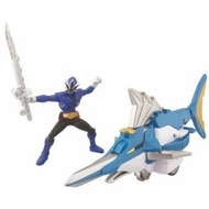Power Ranger Samurai Swordfish with Blue Ranger - click to enlarge