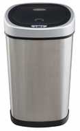 Nine Stars DZT-50-9 13.2 Gallon Stainless Steel Infrared Trashcan - click to enlarge