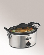 Hamilton Beach 33162RZ Stay or Go 6 Quart Slow Cooker in Stainless Steel - click to enlarge