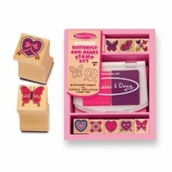 Melissa and Doug 2415 Butterfly Heart Stamp Set - click to enlarge
