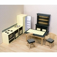 Melissa and Doug 2582 Doll House Kitchen Furniture - click to enlarge