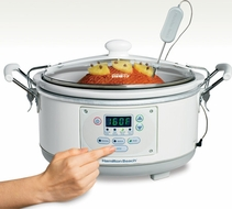 Hamilton Beach 33956 Set 'n Forget 5 Quart Slow Cooker - click to enlarge