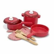 Melissa and Doug 2610 Deluxe Wooden Kitchen Accessory Set - click to enlarge