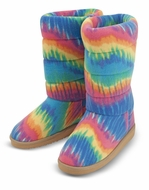 Melissa and Doug Rainbow Boot Slippers (XL) - click to enlarge