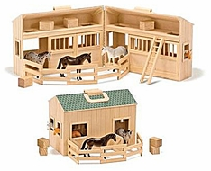 Melissa & Doug 3704 Mini Fold 'n Go Stable - click to enlarge