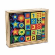 Melissa and Doug 3775  Deluxe Wooden 27-Piece Lacing Beads in a Box - click to enlarge
