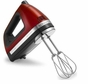 KitchenAid 9-Speed Digital Display Hand Mixer candy apple red