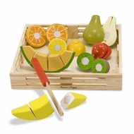 Melissa and Doug 4021 Deluxe Wooden Cutting Fruit - click to enlarge