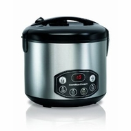 Hamilton Beach 37536 Digital Simplicity Deluxe Rice Cooker/Steamer - click to enlarge