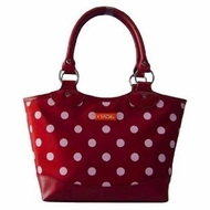 Sachi 36-037 Burgundy White Dot Bag - click to enlarge