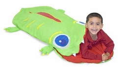 Melissa and Doug Sunny Patch Augie Alligator Sleeping Bag - click to enlarge