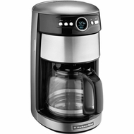 KitchenAid KCM1402CU 14-Cup Glass Carafe Coffee Maker, Contour Silver - click to enlarge
