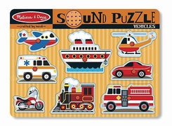 Melissa and Doug #725 Vehicles Sound Puzzle - click to enlarge