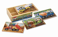 Melissa and Doug #3792 Construction Puzzles In a Box - click to enlarge