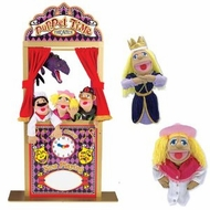 Melissa & Doug Deluxe Puppet Theater Bundle with Cowgirl and Princess Puppets - click to enlarge