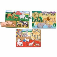 Melissa & Doug Peg Puzzle Bundle - Animals - click to enlarge