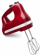 KitchenAid KHM512ER Ultra Power 5-Speed Electric Hand Mixer, Empire Red - click to enlarge