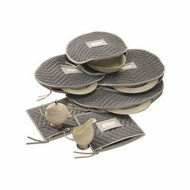 Richards Homewares Micro Fiber Deluxe Six Piece Accessory Set - click to enlarge
