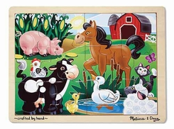 Melissa and Doug On the Farm Jigsaw Puzzle - click to enlarge