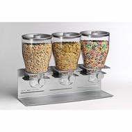 Zevro PROZ302 Commercial Plus Edition Triple Canister Dispenser, Silver - click to enlarge