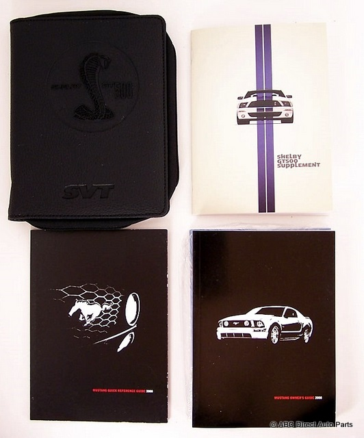 2008 Ford Mustang Shelby GT500 Owners Manual Portfolio