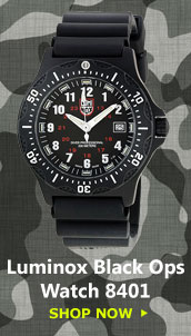 Luminox Black Ops Rubber Mens Watch 8401