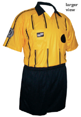 Official Sports Economy Short Sleeve Referee Jersey (Gold/Blk)