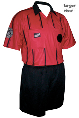 Official Sports Economy Short Sleeve Referee Jersey (Red/Black)