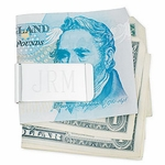 Silver Plated Brass Money Clip