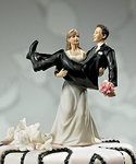 """""""To Have and to Hold"""" - Bride holding Groom Figurine"""