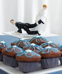 """Comical Couple with the Bride """"Having the Upper Hand"""""""