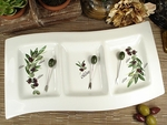 D'Lusso Olive 3 Section Dish & Forks Wedding Favor - Out of Stock 'til End of Oct
