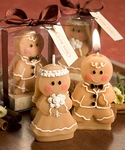 Adorable Gingerbread Bride & Groom Candle