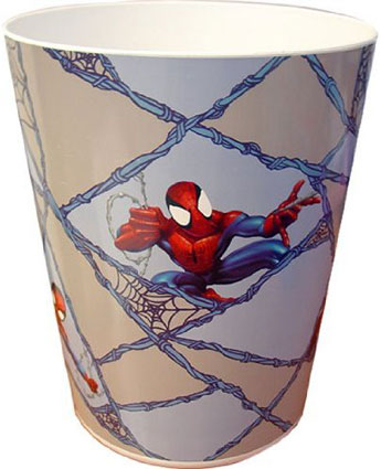 Spiderman Plastic Wastebasket