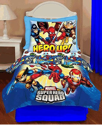 marvel superhero squad toddler bedding 4 pc set - Toddler Bed Sets