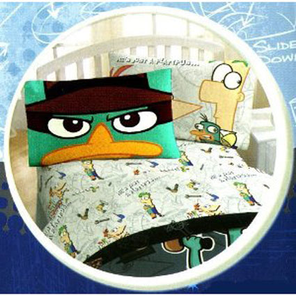 """Phineas and Ferb """"Agent P"""" Twin Sheet Set"""