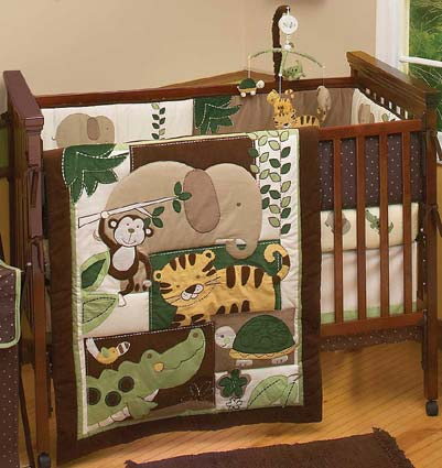 Jungle Mania 6 Piece Baby Crib Bedding Set by NoJo Free Shipping