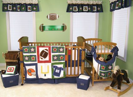 Football 4 Pc Crib Bedding Set by Trend Lab Free Shipping