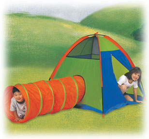 Hide-Me Neon Tent & Tunnel Combo