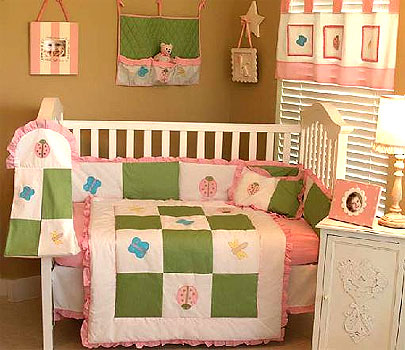 Spring Garden 10-PC Crib Bedding Set