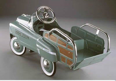 out of stock vintage green estate wagon kids pedal car