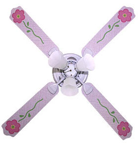 Out of Stock Pink Blossom Girls Ceiling Fan with Lights