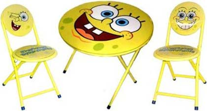 Spongebob Squarepants Folding Table And Chairs Set
