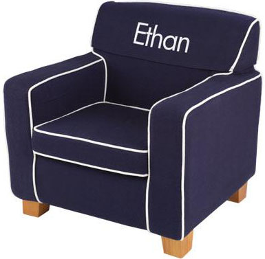 Laguna Chair with Navy Slip Cover