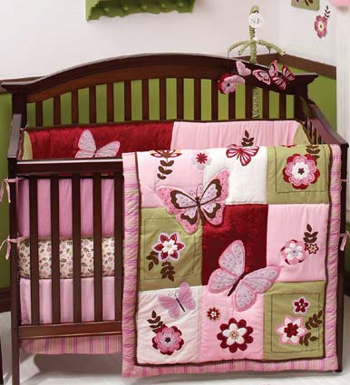 Emily 6 Pc Baby Crib Bedding Set by NoJo Free Shipping