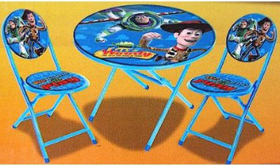 Disney Toy Story Folding Kids Table and Chairs Set - Kids Chairs