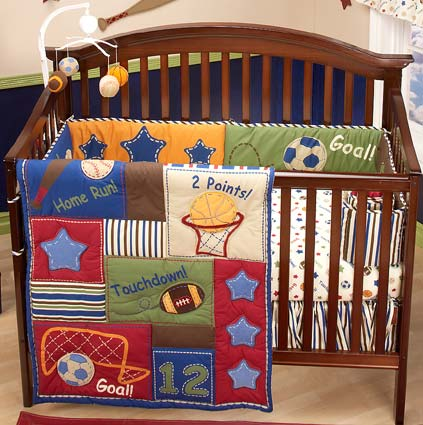Lil Champ 4 Piece Baby Crib Bedding Set by NoJo